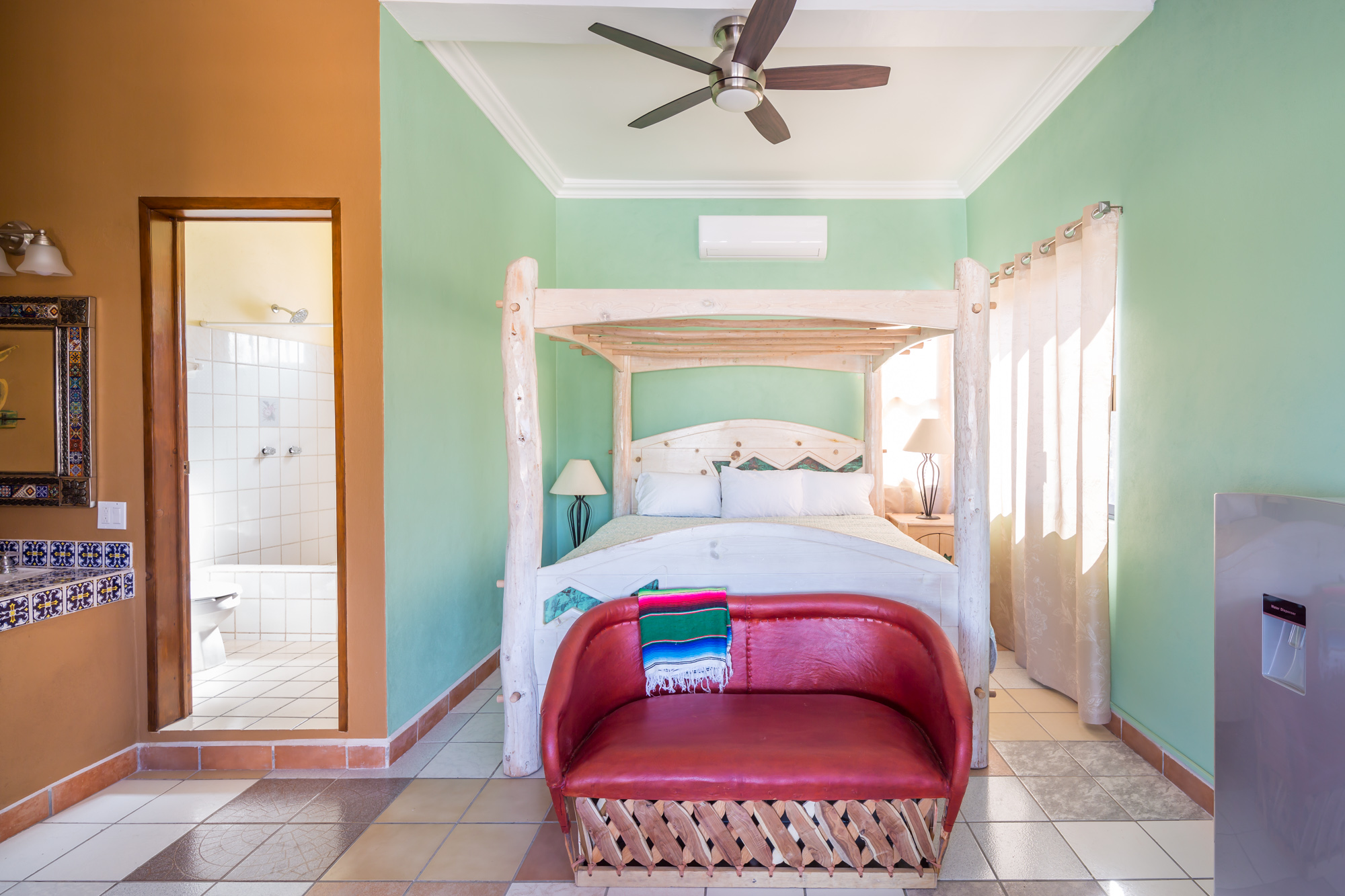 King Bed - Pelican Penthouse at Loreto Playa Boutique Hotel
